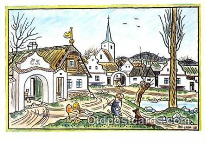 xrt356197 - Artist Josef Lada J Lady Postcard Post Card