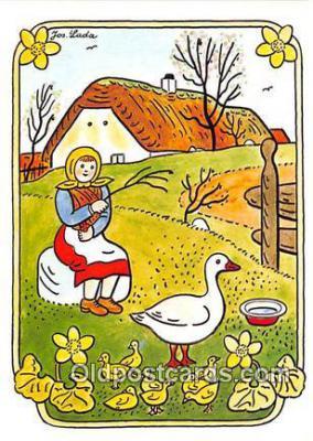 xrt356201 - Artist Josef Lada J Lady Postcard Post Card