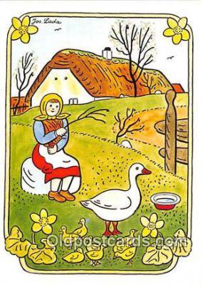 xrt356202 - Artist Josef Lada J Lady Postcard Post Card