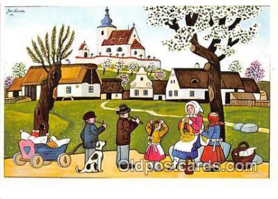 xrt356203 - Artist Josef Lada J Lady Postcard Post Card