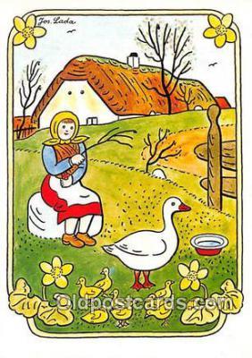 xrt356205 - Artist Josef Lada J Lady Postcard Post Card