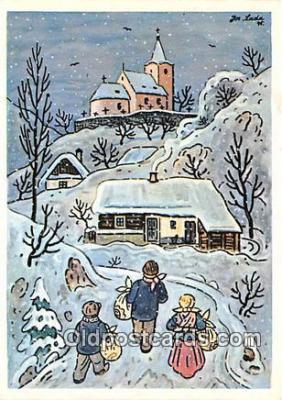 xrt356209 - Artist Josef Lada J Lady Postcard Post Card