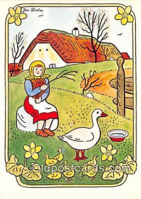 xrt356211 - Artist Josef Lada J Lady Postcard Post Card