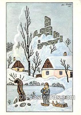 xrt356212 - Artist Josef Lada J Lady Postcard Post Card