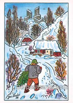 xrt356215 - Artist Josef Lada J Lady Postcard Post Card