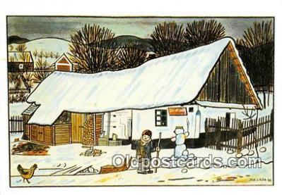 xrt356219 - Artist Josef Lada Greetings Postcard Post Card