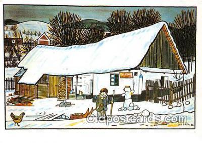 xrt356221 - Artist Josef Lada J Lady Postcard Post Card