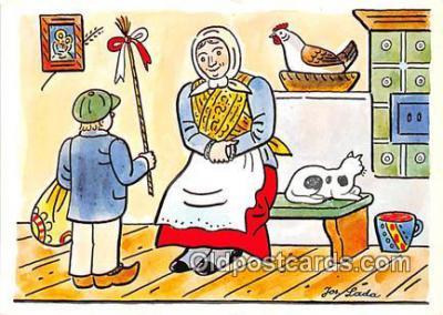 xrt356240 - Artist Josef Lada J Lady Postcard Post Card
