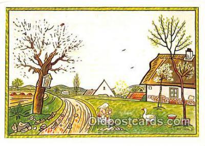xrt356244 - Artist Josef Lada J Lady Postcard Post Card