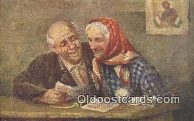 xrt500028 - Artist Signed Postcard Post Cards Old Vintage Antique