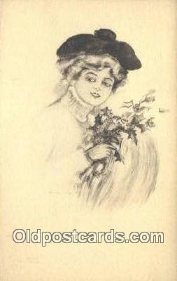 xrt500103 - Artist Signed Postcard Post Cards Old Vintage Antique