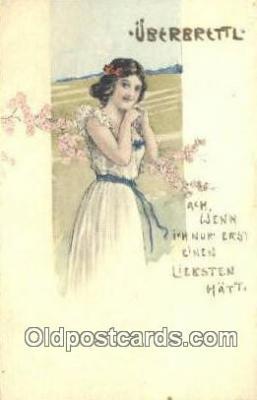 xrt500178 - Artist Signed Postcard Post Cards Old Vintage Antique