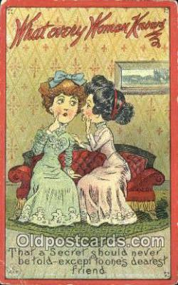 xrt500192 - Artist Signed Postcard Post Cards Old Vintage Antique