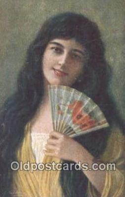 xrt500229 - Artist Signed Postcard Post Cards Old Vintage Antique