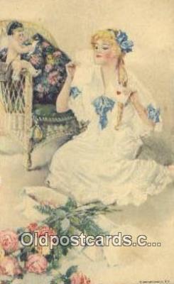 xrt500244 - Artist Signed Postcard Post Cards Old Vintage Antique