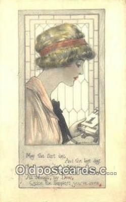 xrt500269 - Artist Signed Postcard Post Cards Old Vintage Antique