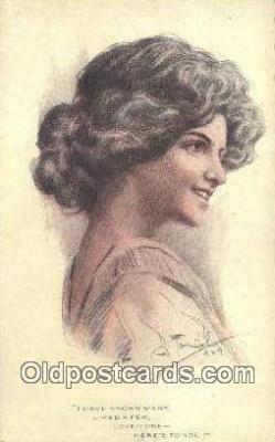 xrt500327 - Artist Signed Postcard Post Cards Old Vintage Antique