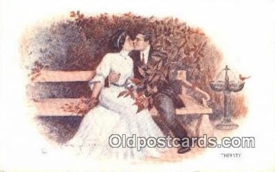 xrt500396 - Artist Signed Postcard Post Cards Old Vintage Antique