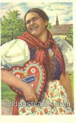 xrt500481 - Artist Signed Postcard Post Cards Old Vintage Antique