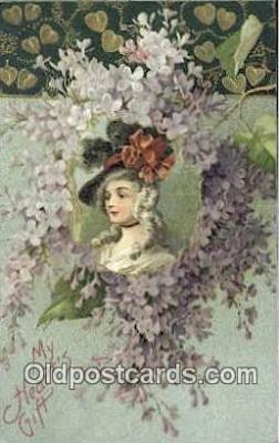 xrt500492 - Artist Signed Postcard Post Cards Old Vintage Antique