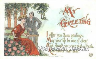 xrt500560 - Artist Signed Postcard Post Cards Old Vintage Antique