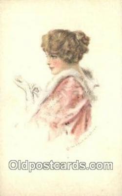 xrt500572 - Misc Artist Signed Postcard Post Card Old Vintage Antique