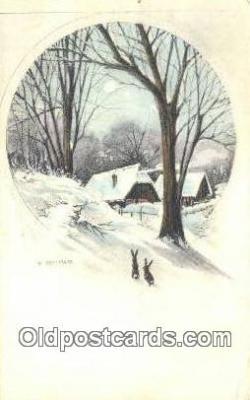 xrt502016 - Artist F. Binder Postcard Post Card Old Vintage Antique