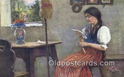 xrt504035 - J. Dusek Artist Postcard Post Card Old Vintage Antique