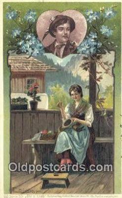 xrt504043 - E Docker Artist Postcard Post Card Old Vintage Antique