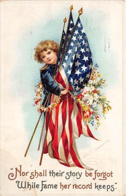 xrt603015 - Memorial Day Decoration Day Post Card Old Vintage Antique