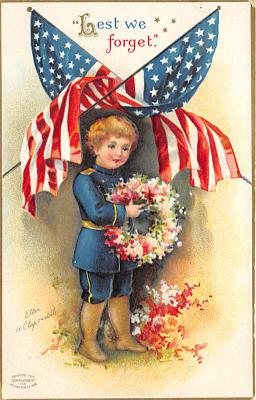 xrt603030 - Memorial Day Decoration Day Post Card Old Vintage Antique
