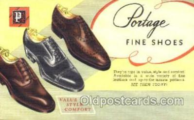 xsa001018 - Portage Shoe Advertising Postcard Postcards