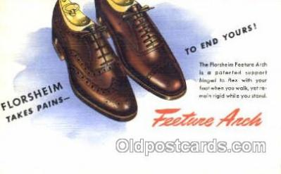Florsheim Shoe Advertising Postcard Post card
