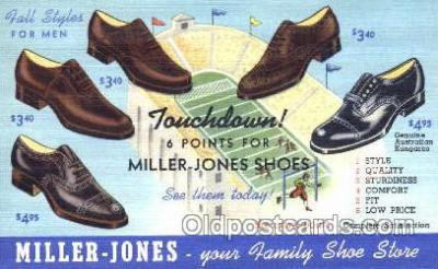 xsa001025 - Miller Jones  Shoe Advertising Postcard Postcards