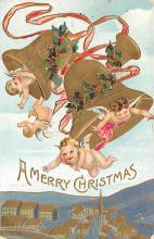 xms000003 - Christmas Post Card Old Vintage Antique Xmas Postcard