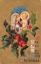 xms000009 - Christmas Post Card Old Vintage Antique Xmas Postcard