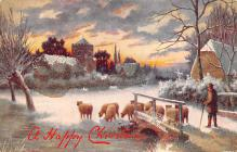 xms000011 - Christmas Post Card Old Vintage Antique Xmas Postcard