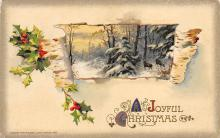 xms000015 - Christmas Post Card Old Vintage Antique Xmas Postcard