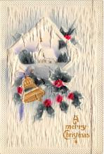 xms000021 - Christmas Post Card Old Vintage Antique Xmas Postcard