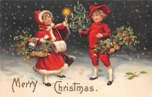 xms000025 - Christmas Post Card Old Vintage Antique Xmas Postcard