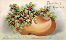 xms000027 - Christmas Post Card Old Vintage Antique Xmas Postcard