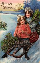 xms000029 - Christmas Post Card Old Vintage Antique Xmas Postcard