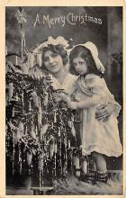 xms000051 - Christmas Post Card Old Vintage Antique Xmas Postcard