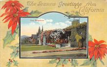 xms000053 - Christmas Post Card Old Vintage Antique Xmas Postcard
