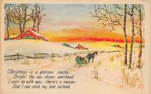 xms000057 - Christmas Post Card Old Vintage Antique Xmas Postcard