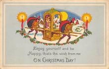 xms000059 - Christmas Post Card Old Vintage Antique Xmas Postcard
