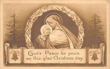 xms000061 - Christmas Post Card Old Vintage Antique Xmas Postcard