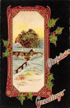 xms000067 - Christmas Post Card Old Vintage Antique Xmas Postcard