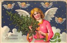xms000071 - Christmas Post Card Old Vintage Antique Xmas Postcard