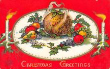 xms000073 - Christmas Post Card Old Vintage Antique Xmas Postcard